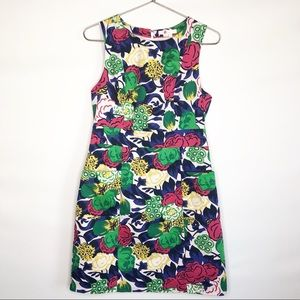 Boden Sleeveless Floral Cotton Lined Dress Size 8R